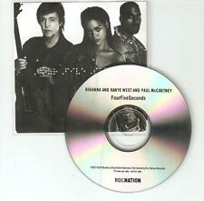 Rihanna Kanye West & Paul McCartney 'FourFiveSeconds' Uk Promo Cd - BEATLES
