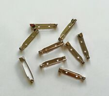 30MM ANTIQUE SILVER COLOR BROOCH PIN BACK JEWELRY COSTUME SAFETY BAR PIN CRAFT