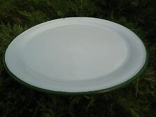 PLATEAU EMAILLE 35 CM BLANC EMAIL VERITABLE ( PIZZA, TARTE..) NEUF UNE AFFAIRE!