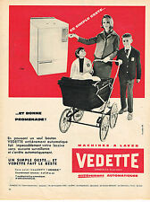 PUBLICITE ADVERTISING  1960   VEDETTE  machine à lmaver lave linge