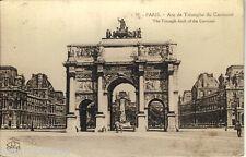 Carte postale, PARIS, Arc de triomphe du Carrousel, non écrite au revers.