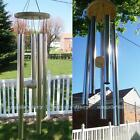 Wind Chime Windchime 5 Metal Tubes Wood Stricker Home Garden Outdoor Decor Gift
