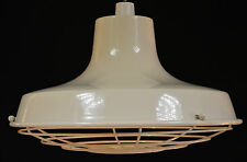 RETRO VINTAGE INDUSTRIAL CAGE STYLE CREAM METAL PENDANT LIGHT SHADE RETRO