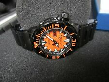 SEIKO MONSTER Dive Watch BLACK ORANGE Dial - JAPAN on Dial BNIB Rare Model $595