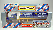 "Matchbox Convoy CY18A Scania Double Container Truck ""Varta"" top in Box"