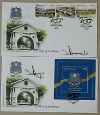 Malaysia 2016 PFS Bicentury FDC Pair Ipoh Cancellation with Pos CEO Signature
