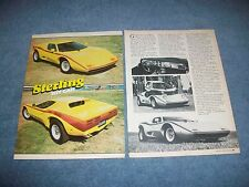 1976 Sterling VW Powered Kit Car Vintage Article ---From 1982---