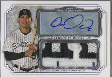 2012 Topps Museum Collection Carlos Gonzalez Jumbo Auto Jersey Logo Patch 1/10