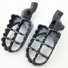 GRAY Motocross MX Dirt Bike Racing Foot Pegs For 2000 2001 HONDA CR250R CR125R