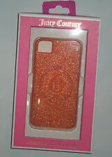 JUICY COUTURE Gelli Glitter Orange cell Phone Case  Iphone  I phone  4 / 4S nwt