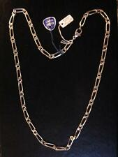 CHAINE  ARGENT MASSIF MAILLE LARGE LONG 50 CM VINTAGE NEUF/NEW SILVER CHAIN