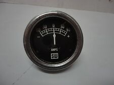 Vintage Stewart Warner SW Amp Meter -60-0-60+ Gauge  # 416883 Coffin Needle