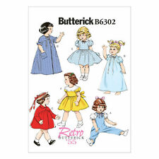 """Butterick Pattern 6302 18"""" DOLL CLOTHES overalls nightgown robe coat dress"""