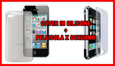 COVER SILICONE + PELLICOLA SCHERMO PER APPLE IPHONE  3G 3GS - PELLICOLA INCLUSA