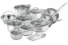 Chef's Star Professional Grade Stainless Steel 17 Piece Induction Ready Cookware