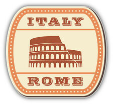 Italy Rome Vintage Label Car Bumper Sticker Decal 5'' x 5''