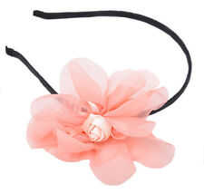 Cute 50s ROSES Chiffon Blüte Bow HAARREIF - Altrose Rockabilly