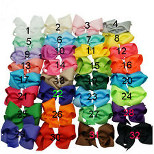 6 Inch 32 pcs/lot  Knot Hair Bow Bowknot Alligator Clip Girl Hair Accessories