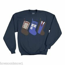 Doctor Who LICENSED R.J. Christmas Stocking Fleece Sweatshirt 2790 -  NEW L