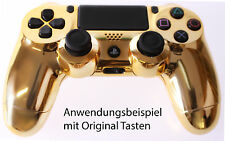 NEU Playstation PS4 Controller Case Hülle Gehäuse Modding Chrome Gold