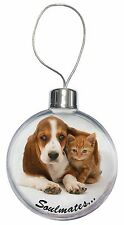 Basset Hound and Kitten 'Soulmates Christmas Tree Bauble Decoration G, SOUL-25CB