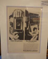 Original Vintage Advertisement mounted ready to frame Polaroid Camera 1962