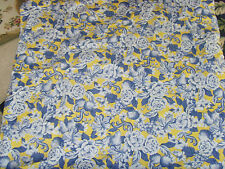 Stunning yellow and blue scrolls grapes and roses French Country Chic tablecloth