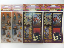 Harry Potter Stickers 4 Packages 8 Sheets Story Scenes Hary & Ron