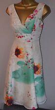Fenn Wright Manson 8 Immaculate Sunflower Silk Fit n Flare Wedding Dress £189