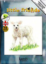 LITTLE FRIENDS - LAMB - HERITAGE CRAFTS COUNTED CROSS STITCH KIT