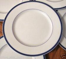 "7 Rare Block Spal Lisboa Blue 6 1/4"" Bread Side Dessert Plates set Portugal"