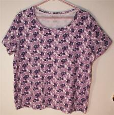 WHITE STAG WOMEN'S/MISSES/TEEN SIZE XXL (20) LAVENDER/PURPLE FLORAL COTTON TOP