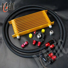 Universal AN10 trust 10 row oil cooler Gold+ thermostat Sandwich Plate kit