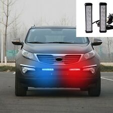 COOL White Strobe Flashing Lights Front Grille red and blue Emergency Beacon