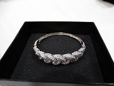 Victoria Wieck Absolute Pave Infinity Knot Hinged Bangle Bracelet