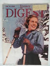 "The Literary Digest  February 19, 1938  ""Ski Girl in Quebec"""
