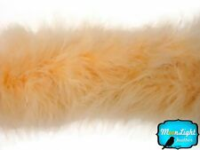 Feathers, Peach Marabou Feather Boa 25g - 2 Yards