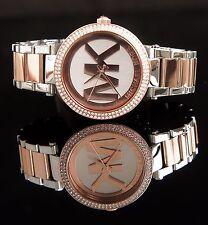 Michael Kors Uhr Damenuhr MK6314 Parker  Bicolor Farbe: Rose Gold/Silber NEU