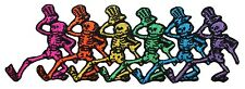 Grateful Dead Smaller Dancing Skeleton Strip Rock Band Iron On Applique Patch