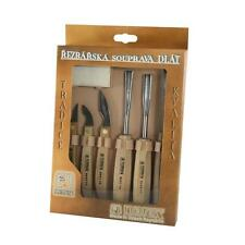 NAREX STANDARD 6pc CARVING WOOD CARVING SET with SHARPENING STONE 894610