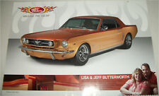 1965 Ford Mustang Notchback car print  (modified, gold)