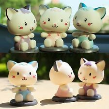 Cat Shape Bobblehead Doll Home Desk Decoration Car Furnishing Articles Accessory