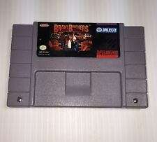 SUPER NINTENDO SNES GAME CARTRIDGE ONLY BRAWL BROTHERS JALECO RARE CART