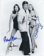 ROGER MOORE & BRITT EKLAND & MAUD ADAMS SIGNED JAMES BOND 007 PHOTO - UACC RD