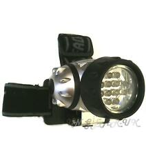 12 LED Hiking Walking Running Torch Head Strap Lamp Light Flashlight Headlamp