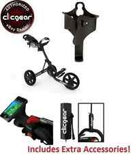 Best Value New Clicgear 3.5 Golf Push Cart + EXTRAS! Charcoal Black 3 Wheel Pull