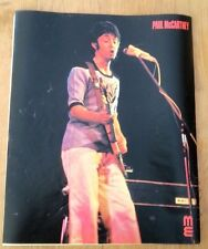 PAUL McCARTNEY 'in a Wings shirt'  magazine PHOTO/Poster/clipping 12x10 inches