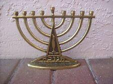 Brass OFFER #15 Candleabra Hanukkah MENORAH ~ ISRAEL Yisrael & Hanukkah Hebrew