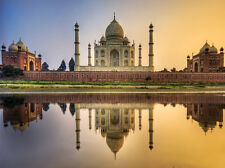A0 SIZE taj mahal india - CANVAS PRINT- photo sunset  ART 841 x 1189 mm
