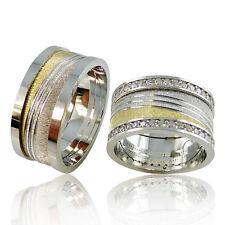 2 Silber Trauringe mit Gravur + Etui Eheringe Verlobungsringe Partnerringe 3317